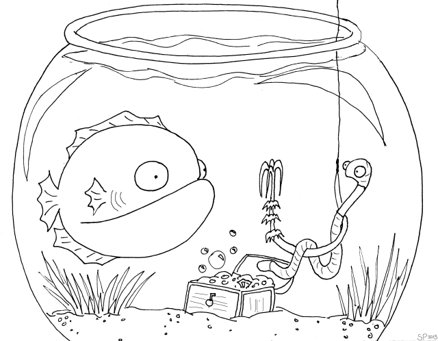 hello fishy coloring sheet